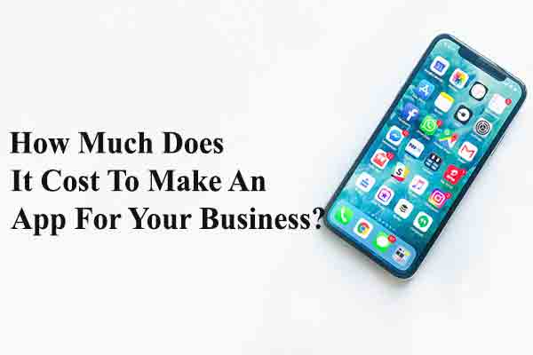 How Much Does It Cost To Make An App For Your Business?